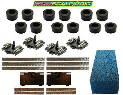 Micro Scalextric 1:64 Replacement Tyres Braids & Latest Guide Plate Pickup NEW • 1.99£