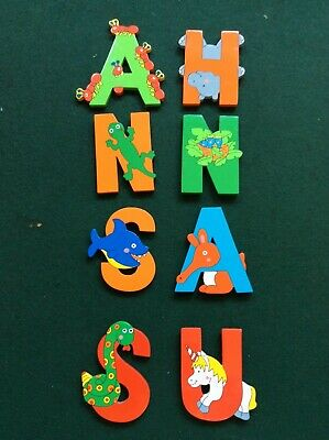 Wooden Colourful Alphabet Letters • 3.50£