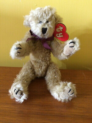 TY BEAR TINY TIM Collectable Attic Treasure 4th Gen,Burgundy Ribbon 8.5  RARE • 24.99£