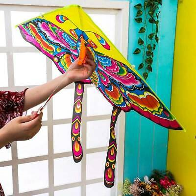3D Butterfly Kite Kids Toy Fun Outdoor Flying Activity Game Children With Tail • 3.99£