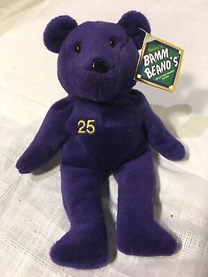 Bamm Beanos Mark McGwire Bear #25 Purple WITH TAGS Collectible Bear • 12.04£