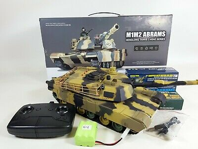 Heng Long Radio Control RC Military Army Airsoft BB M1m2 Abrams US Tank 3816 2.4 • 54.99£
