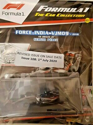 F1 Formula 1 = The Model Car Collection # 107 = Force India Vjm09 - 2016 • 16.99£