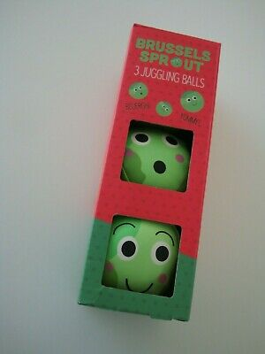 Fizz Creations 3 X Brussels Sprout Juggling Balls NEW • 7.99£