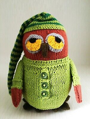 Hand Knitted Owl/knitted/soft Animal /soft Toy/stuffed Toy • 25£