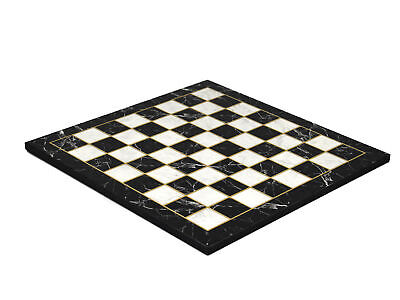 Wooden Flat Chess Board  Black Marble - 14  • 24.99£