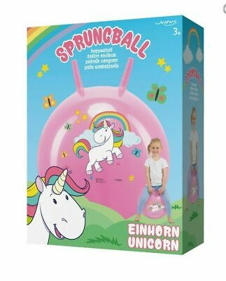 Unicorn Hopper Ball Bouncy Jumping Space Hopper 45-50cm Exercise Rainbow • 14.99£