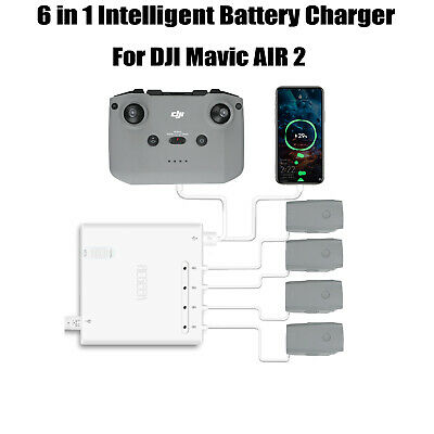 6 IN 1 Multi Battery Charger Charging Hub Adapter Part For DJI Mavic Air 2 Drone • 42.59£