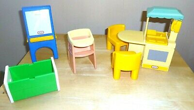 Little Tikes Doll House Furniture ~ Easel Highchair Kitchen Unit Toy Box Chairs • 19.99£