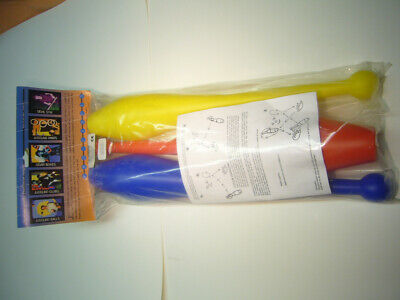 Juggling Clubs,  Set Of 3 Juggling Clubs With Instructions • 9.99£