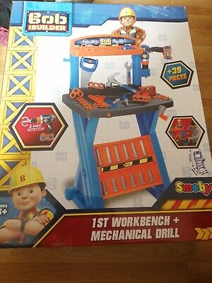 New Smoby Bob The Builder First Workbench Pretend Play With Slightly Damaged Box • 25£