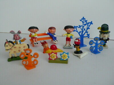 Corgi Toys   Magic Roundabout Figure Collection - Trees, Bench, Brian, Dylan Etc • 100£