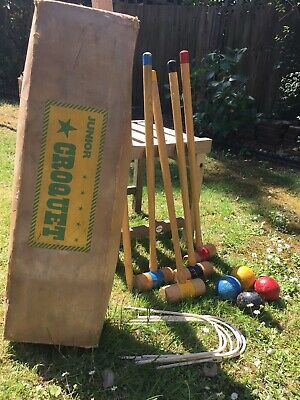 Vintage Wooden Junior Croquet Set • 30£