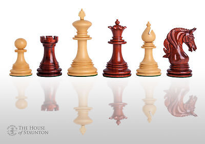The Teramo Luxury Chess Set - Pieces Only - 4.4  King - Blood Rosewood • 454.54£