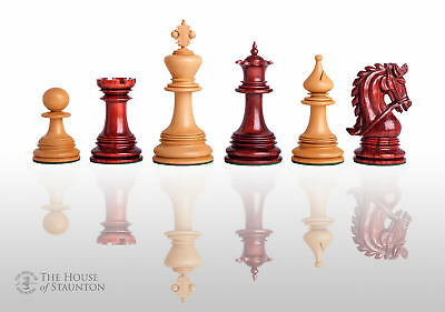 The Preston Luxury Chess Set - Pieces Only - 4.4  King - Blood Rosewood • 501.97£