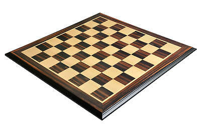 Luxe Traditional Chess Board - STRIPED EBONY / MAPLE - 2.5  Squares • 157.31£