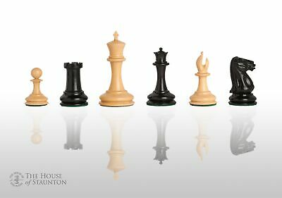 The Cooke Luxury Chess Set - Pieces Only - 3.5  King - Genuine Ebony • 394.46£