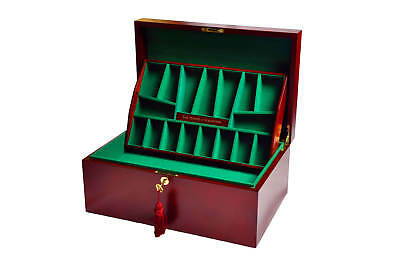 The House Of Staunton Fitted Chess Coffer - Red Burl - NO LOGO • 252.92£