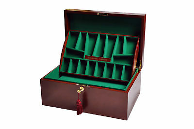 The House Of Staunton Fitted Chess Coffer - Mahogany - NO LOGO • 252.92£