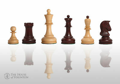 The Dubrovnik Chess Set - Pieces Only - 3.75  King - Rosewood Gilded • 173.12£