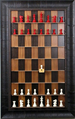 Straight Up Chess Board - Dark Walnut Series With Rustic Brown Frame • 188.93£