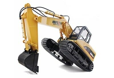 Large 1/14th Scale 15 Channel RC Excavator With Metal Bucket, Lights & Sound • 49.99£