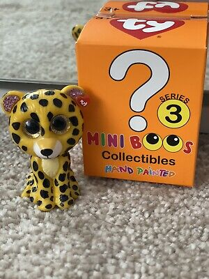 TY Mini Boos Series 3, New Figure, Opened Box, Speckles - Yellow Leopard S3 • 2.98£