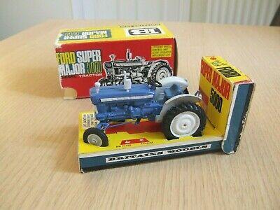Vintage Britains Farm Ford 5000 Super Major Tractor With Box • 49£