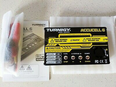 Turnigy Accucell-6 10A 80W Lipo LiFe LiHV Battery Charger +Temperature Sensor RC • 39£