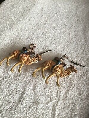 Vintage Britains Plastic Camel Mounted Soldiers • 4.99£