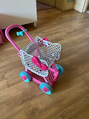 Hello Kitty Pink & White Play Food Shopping Toy Trolley • 3.89£