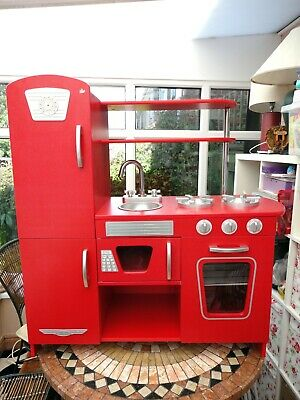 KidKraft Wooden Vintage Play Kitchen In Red. Age: 3+ Years.  • 50£
