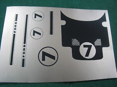 RS23a  Repro Scalextric Decal C77 GT40 #7 FOIL - NEED CUTTING OUT  -  • 4£