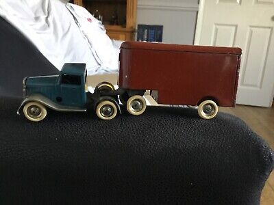 Pre-war  Tri-ang Minic No 30m Lorry,articulated Pantechnicon, 1st Series..1930s • 99£