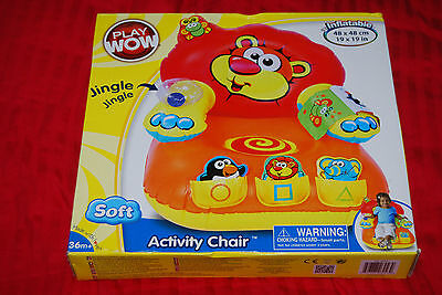 PlayWow Soft Inflatable Activity Chair Play Wow - Rare US Import BNIB - 36m+ • 29.99£