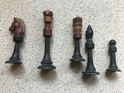 Vintage Metal Chess Pieces • 4.96£