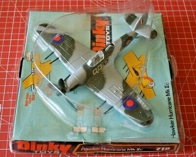 Dinky 718 Hawker Hurricane. Very Near Mint Model & Cover + Excellent Plinth.  • 145£