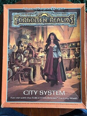 Advanced Dungeons & Dragons - Forgotten Realms - City System - BOXED TSR - 1040 • 60£