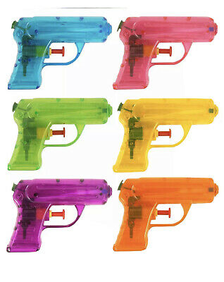 Small Water Gun Pink Orange Green Yellow 11cm Kids Outdoor Party Toy Gift • 1.85£