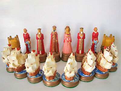Hand Painted   Elizabethan   Chess Pieces. • 50£