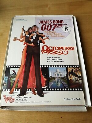 Victory Games James Bond 007 Octopussy Game - RPG / Roleplaying 1983 • 5.50£