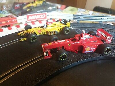 Ninco F1 Ferrari F310B / Jordan Peugeot 197 / Good  Working Condition   • 26£