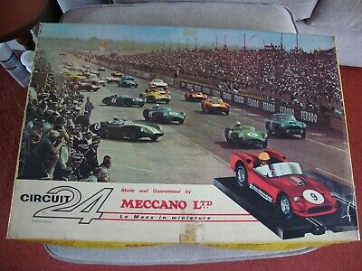Vintage Meccano Circuit 24 Le Mans Racing Car Set - Untested - Boxed • 39.99£