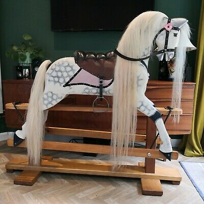 Extra Large Vintage Collinson Traditional Hand Crafted Wooden Rocking Horse • 1,295£