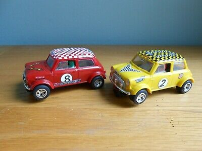 Scalextric Mini Cooper 1275, Red & Yellow, Model No C.7, All Working. • 14£