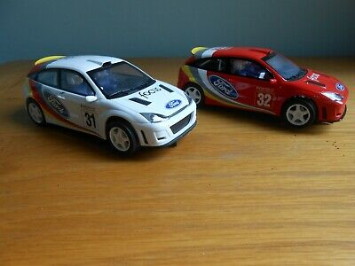 Scalextric Ford Focus WRC. Red 32, & White 31, Both Working Fine. • 13.51£