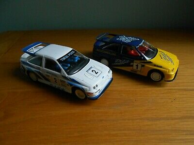 Scalextric Ford Escort Cosworth With Working Lights, Cars Also Work Fine. • 9.50£
