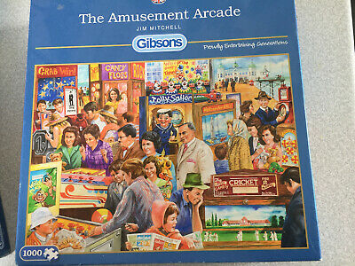 GIBSONS The Amusement Arcade By Jim Mitchell 1000 Piece Jigsaw Puzzle • 2.10£