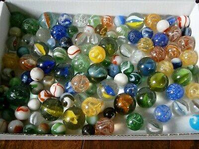 Collection Job Lot Old Marbles Vintage Toys Over 100 In Total • 4.99£