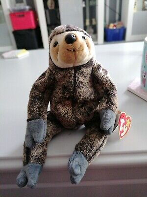 TY BEANIE BABIES COLLECTION - SLOWPOKE, SLOTH 1999. Retired With Tag • 2.10£